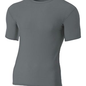 Adult Polyester Spandex Short Sleeve Compression T-Shirt Thumbnail