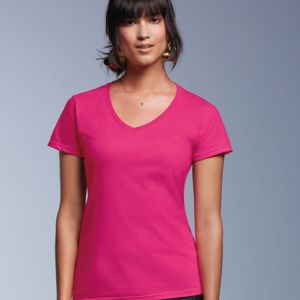 Women's Lightweight Ringspun V-Neck Tee Thumbnail