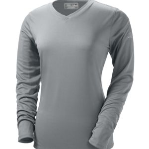 NDurance Ladies' Athletic Long-Sleeve V-Neck T-Shirt Thumbnail