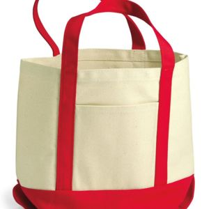 9 Ounce Small Cotton Canvas Boater Tote Thumbnail