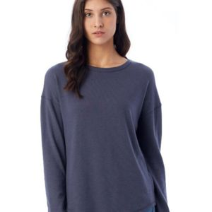 Women's Dropped Shoulder Vintage Heavy Knit Pullover Thumbnail