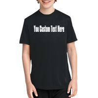 Your Custom Text Here - Front Youth Essential Performance Tee Thumbnail