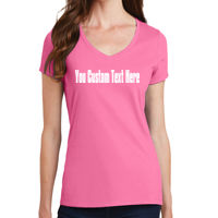 Your Custom Text Here - Ladies Fan Favorite V Neck Tee Thumbnail